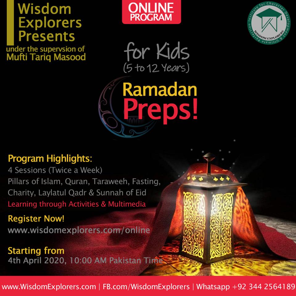 Ramdan Preps by Wisdom Explorer mufti tariq masood